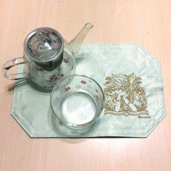刺繍キャラクター図案のキャラ縫いティーマット 物販用15枚
