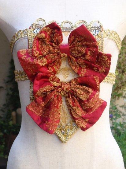 ヴェルサイユバロックドレス ストマッカー風装飾胸当て