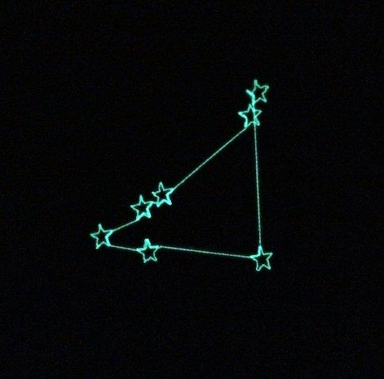 光る星座ワッペン 「やぎ座」
