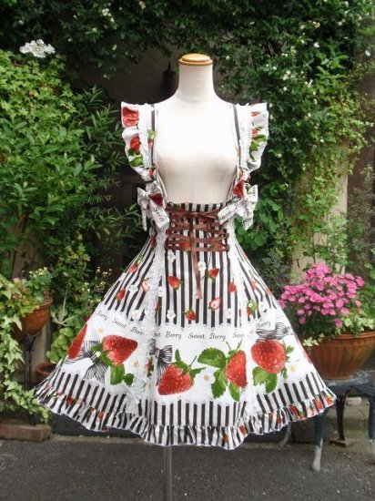 フリルスカート エリーナ姫のいちごの国へのお出掛けジャンスカ 単品販売