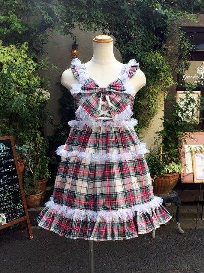 フリルワンピース 夢見るカントリー少女なジャンパースカート