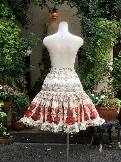 フリルスカート クラシカルバイオリンミディアムスカート