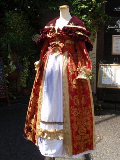 レンタル衣装 フリルドレス:ヴェルサイユバロックドレスセット