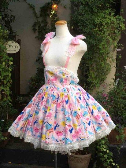 フリルワンピース 夢かわ♡少女のコスモチックジャンパースカート