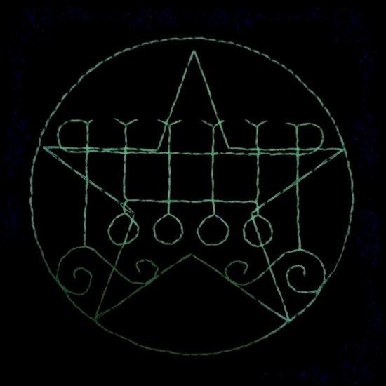 刺繍雑貨 光る悪魔の魔法陣コースター グシオン