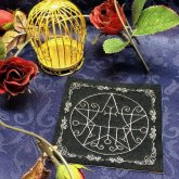 刺繍雑貨 光る悪魔の魔法陣コースター マルコシアス
