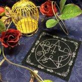 刺繍雑貨 光る悪魔の魔法陣コースター アンドレアルフス