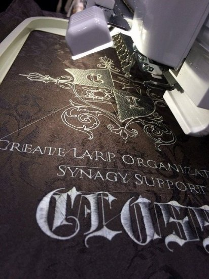 中世創作旗 ロゴデータ&ベタ縫いで製作 縫いオプション有ります