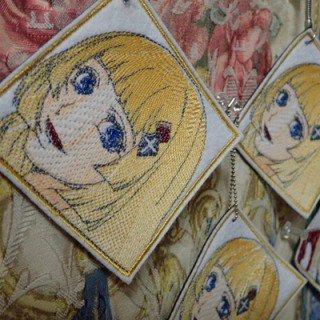 刺繍キャラクター図案のキャラ縫いキーホルダー カラー 即売会用24枚分
