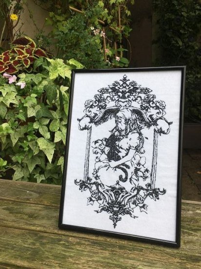 魔女の家〜エレンの日記〜額装刺繍