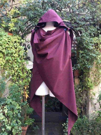 LARP向け 魔女 冒険者の為のケープ風マント 紅 刺繍可