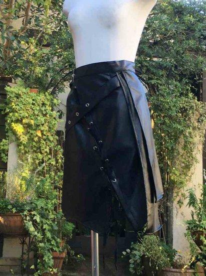 LARP推奨 ファンタジー バトルレディー合皮パレオ風スカート 刺繍可