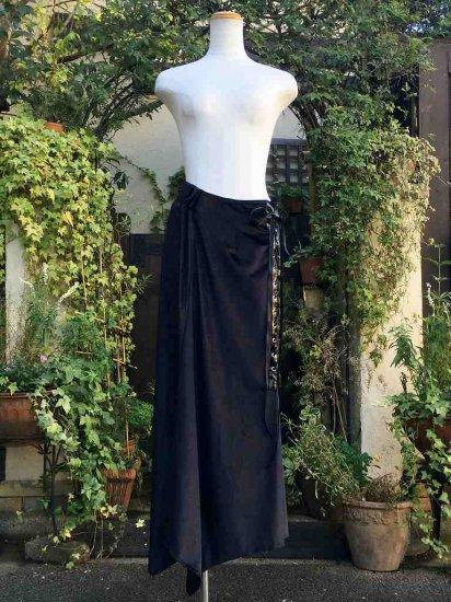 ファンタジースカート 闇の踊り子ロングベロアスカート 刺繍可