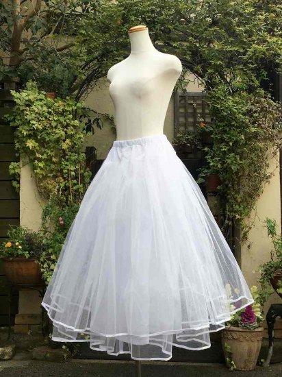フリルパニエ ドレス用ハードロングパニエ 白