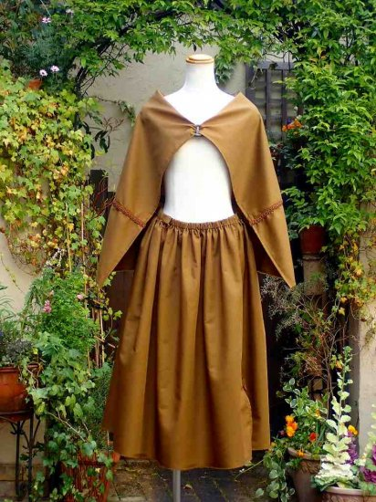 LARP衣装 アレンジ布付き巻きスカート