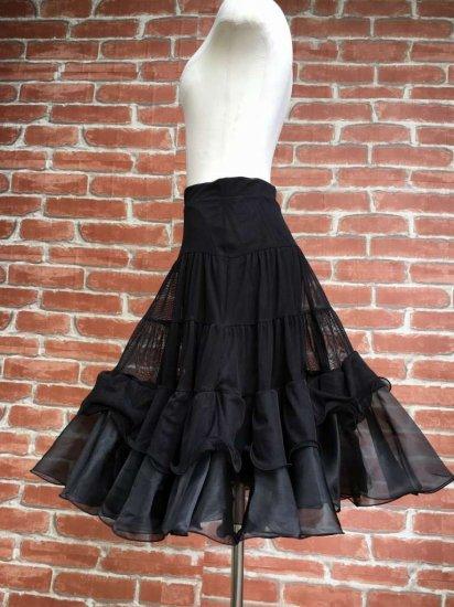 フリルスカート 黒魔女のフリルフレアスカート