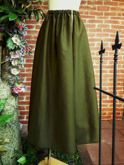 LARP衣装 ファンタジーエルフロングスカート 刺繍可