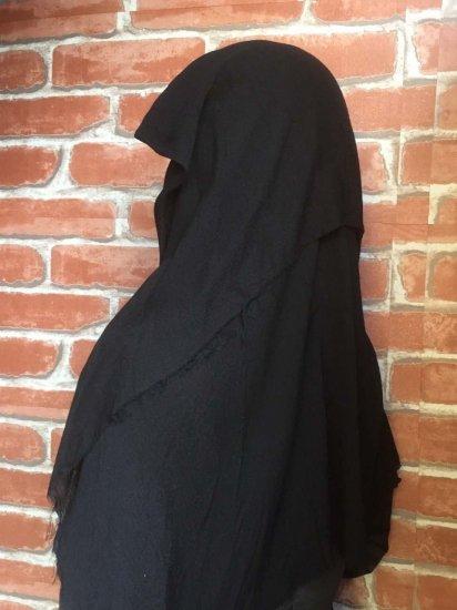 LARP衣装 魔女のベール ブラックシスターウィンプル