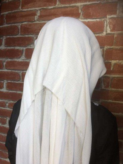 LARP衣装 フリルのベール ホワイトシスターウィンプル