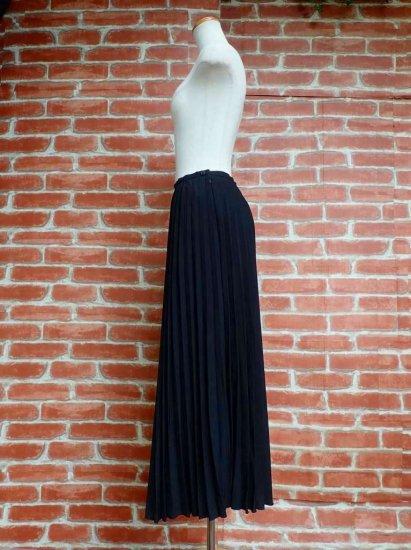 プリーツロングスカート 黒