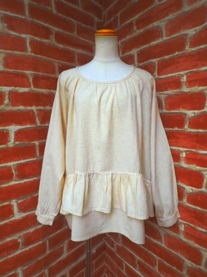 フリルチュニック 中世のシャツ ナチュラルファンタジー服