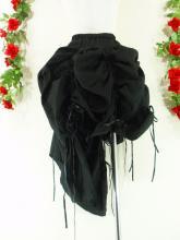 フリルスカートカスケードフリル使い 黒フリーサイズ