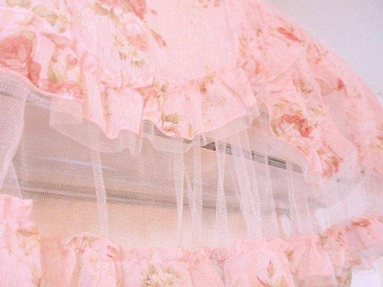 フリルエアコンカバーロココ調プリンセスロマンティックローズレースフリル薔薇柄