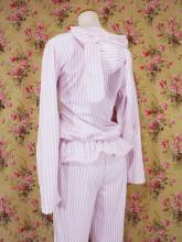 フリルうさみみパジャマパーカー上下セット 紫MLサイズ