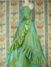 舞踏会用フリルプリンセスドレス 緑フリーサイズ