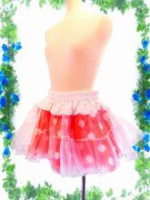 フリル水玉ミニパニエスカート