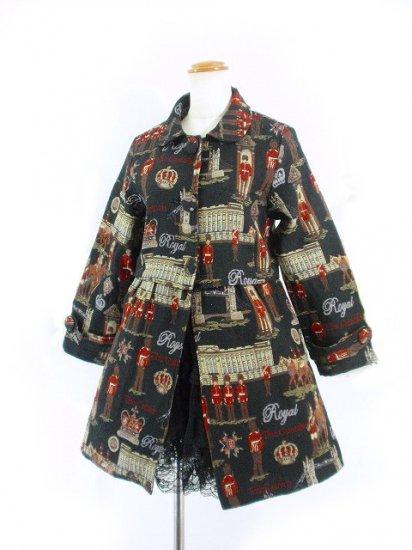 ゴブラン織りAラインコート英国柄 フリーサイズ