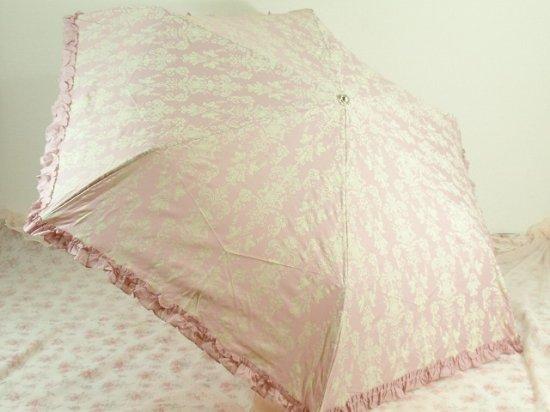フリル傘:アラベスク折傘 マドンナピンク【LaLuice】