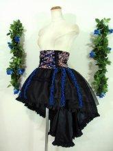 バッスルコルセットスカート 青