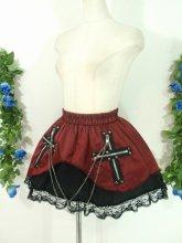 フリルスカート:ツインクロスの魔女っ子スカート 赤