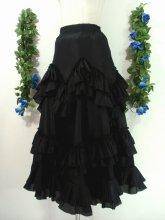 ゴシックフリルロングスカート