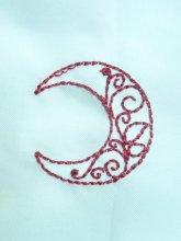 刺繍アンティークムーンモチーフ