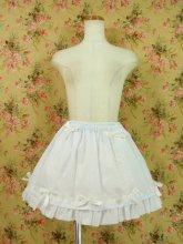 ホワイトリボンスカート