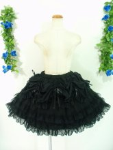 フリルとリボンのゴージャスプリンセススカート ブラック