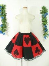 フリルスカート:トランプの国のフリルスカート 赤黒