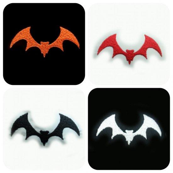 刺繍ハロウィン蝙蝠デザイン