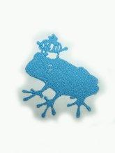 刺繍カエルの王子様モチーフ