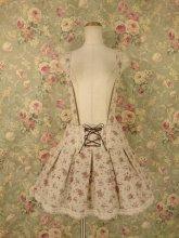 薔薇香る編み上げリボンサススカート