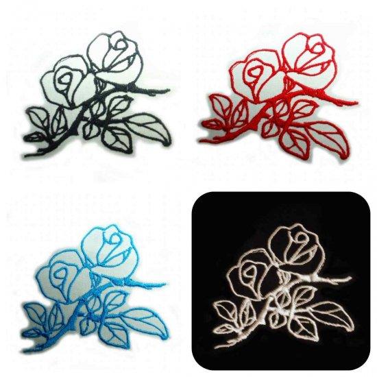 刺繍アンティーク薔薇デザイン