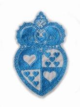 刺繍ハートの紋章モチーフ(大きめ)