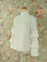 白の貴公子フリルメンズシャツ