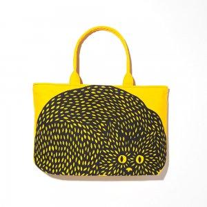 <strong>トートバッグ</strong><br> #ねこまるまる 黄色