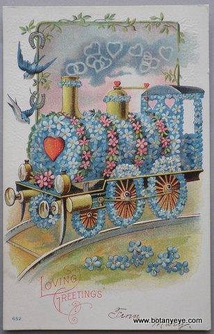 ワスレナグサの機関車とツバメと馬蹄 - Loving Greetings-