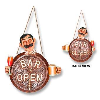 OPEN & CLOSED オープン&クローズ BAR 開店ボード