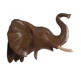 象の頭部 壁掛けオブジェ【100cm】