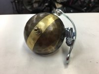 Tomii Cycles * Hammered Brass Bell * with stripe